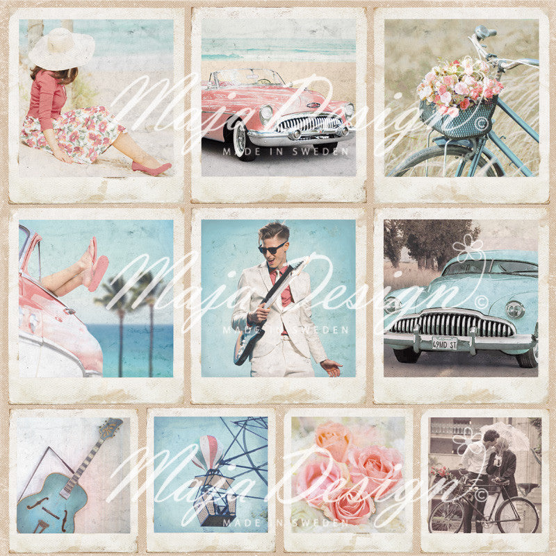 "Brand New Release Maja Designs - Summer Crush ""Snapshots""  12"" x 12"" double sided sheet"