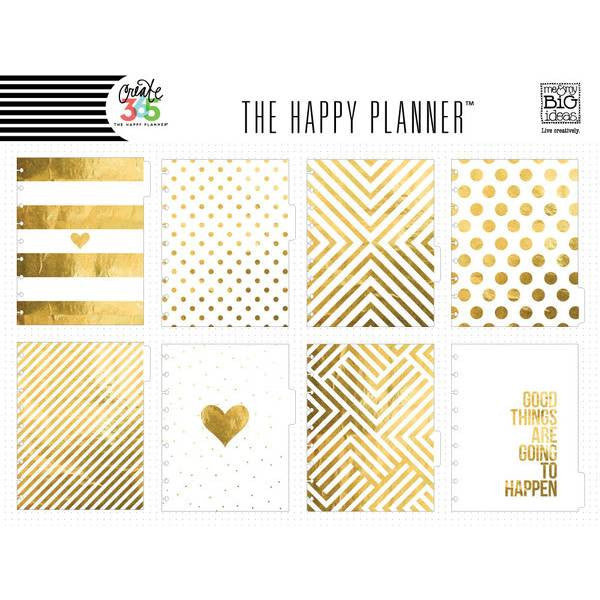 Me & My Big Ideas - Create 365 The Happy Planner Dividers - Gold