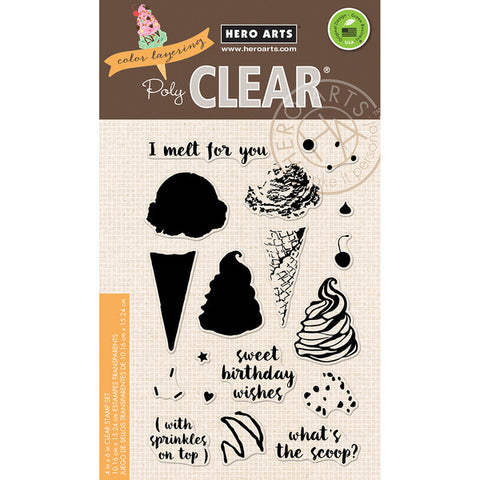 Hero Arts, Color Layering Clear Stamps - Ice Cream