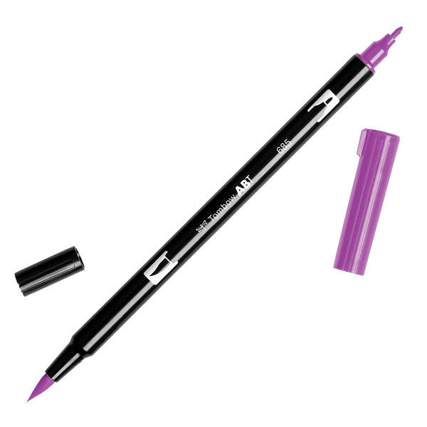 Tombow Dual Brush Pen - Deep Magenta #685
