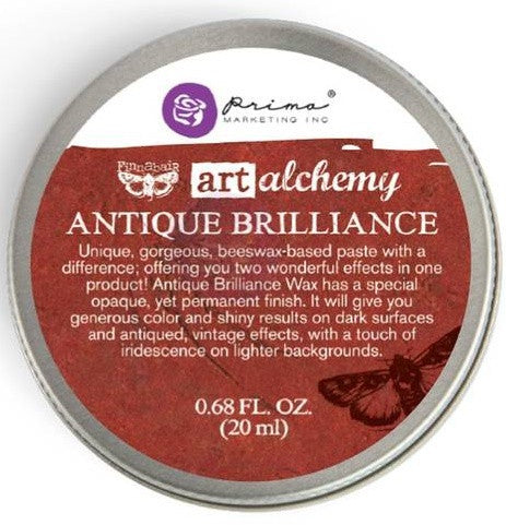 Prima Marketing - Finnabair Art Alchemy Antique Brilliance Wax - Fire Ruby