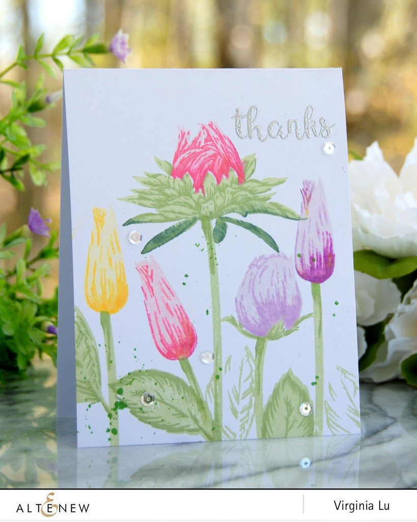 Altenew - Stamp Set - Budding Thanks