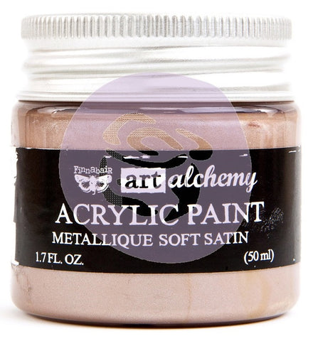***Pre-Order*** Prima Marketing - Finnabair Art Alchemy - Acrylic Paint 1.7 Fl. Oz. - Metallique Soft Satin