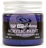 ***Pre-Order*** Prima Marketing - Finnabair Art Alchemy - Acrylic Paint 1.7 Fl. Oz. - Metallique Midnight Sky