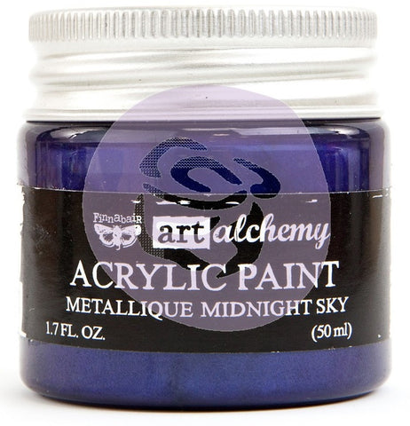 (Pre-Order) Prima Marketing - Finnabair Art Alchemy - Acrylic Paint 1.7 Fl. Oz. - Metallique Midnight Sky