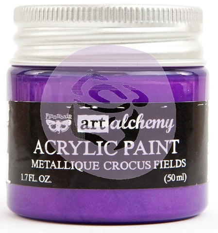 Prima Marketing - Finnabair Art Alchemy - Acrylic Paint 1.7 Fl. Oz. - Metallique Crocus Fields