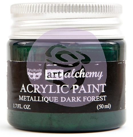 ***Pre-Order*** Prima Marketing - Finnabair Art Alchemy - Acrylic Paint 1.7 Fl. Oz. - Metallique Dark Forest