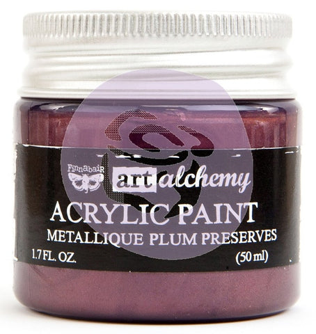 Prima Marketing - Finnabair Art Alchemy - Acrylic Paint 1.7 Fl. Oz. - Metallique Plum Preserves