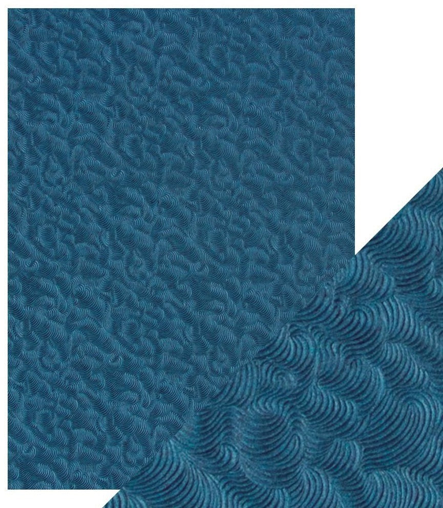 Tonic Studios - Craft Perfect A4 Handcrafted Cotton Papers - Deep Sea Dive
