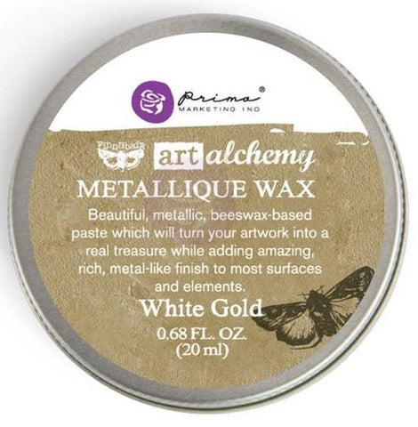 Prima Marketing - Finnabair Art Alchemy Metallique Wax - White Gold