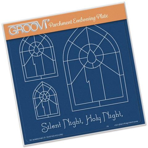 ***New Item*** Clarity Stamp - Groovi Plate A5 - Christmas Candle Window