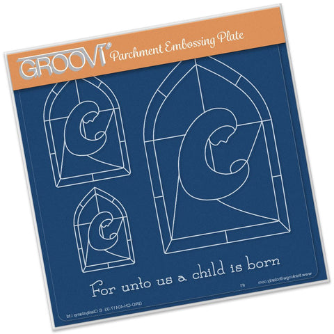 ***New Item*** Clarity Stamp - Groovi Plate A5 - Christmas Madonna Window