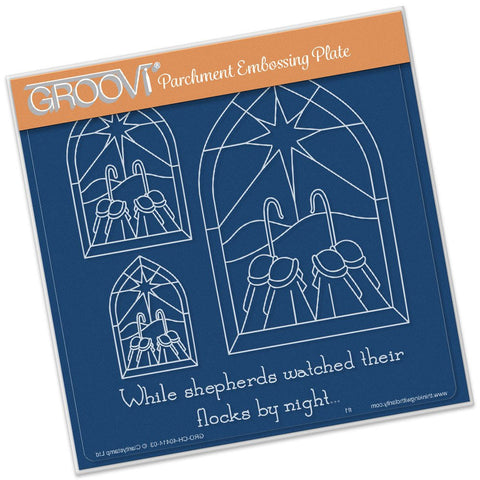 ***New Item*** Clarity Stamp - Groovi Plate A5 - Christmas Shepherds Window