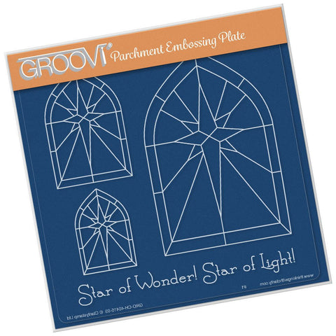 Clarity Stamp - Groovi Plate A5 - Christmas Star Window