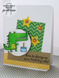 "Reverse Confetti - 4"" x 4"" Stamp Set - Later Alligator"