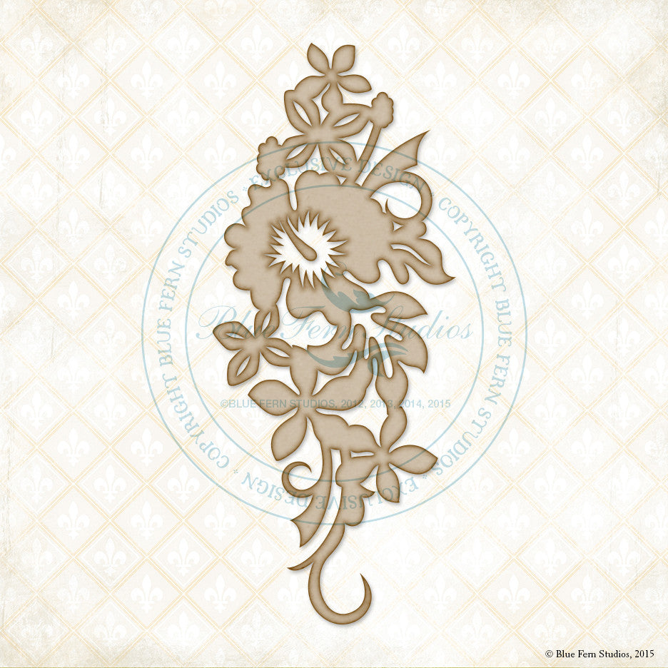 Blue Fern Studios - Chipboard - Aloha Flowers