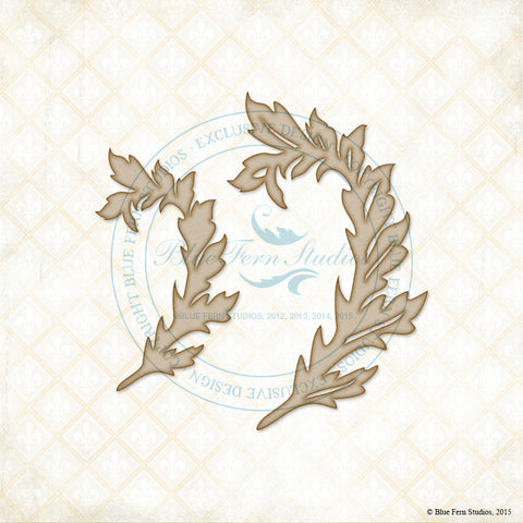 Blue Fern Studios - Chipboard - Arching Leaves