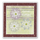 Clarity Stamp - Art Deco Flowers 1 - Groovi Border Plate A4