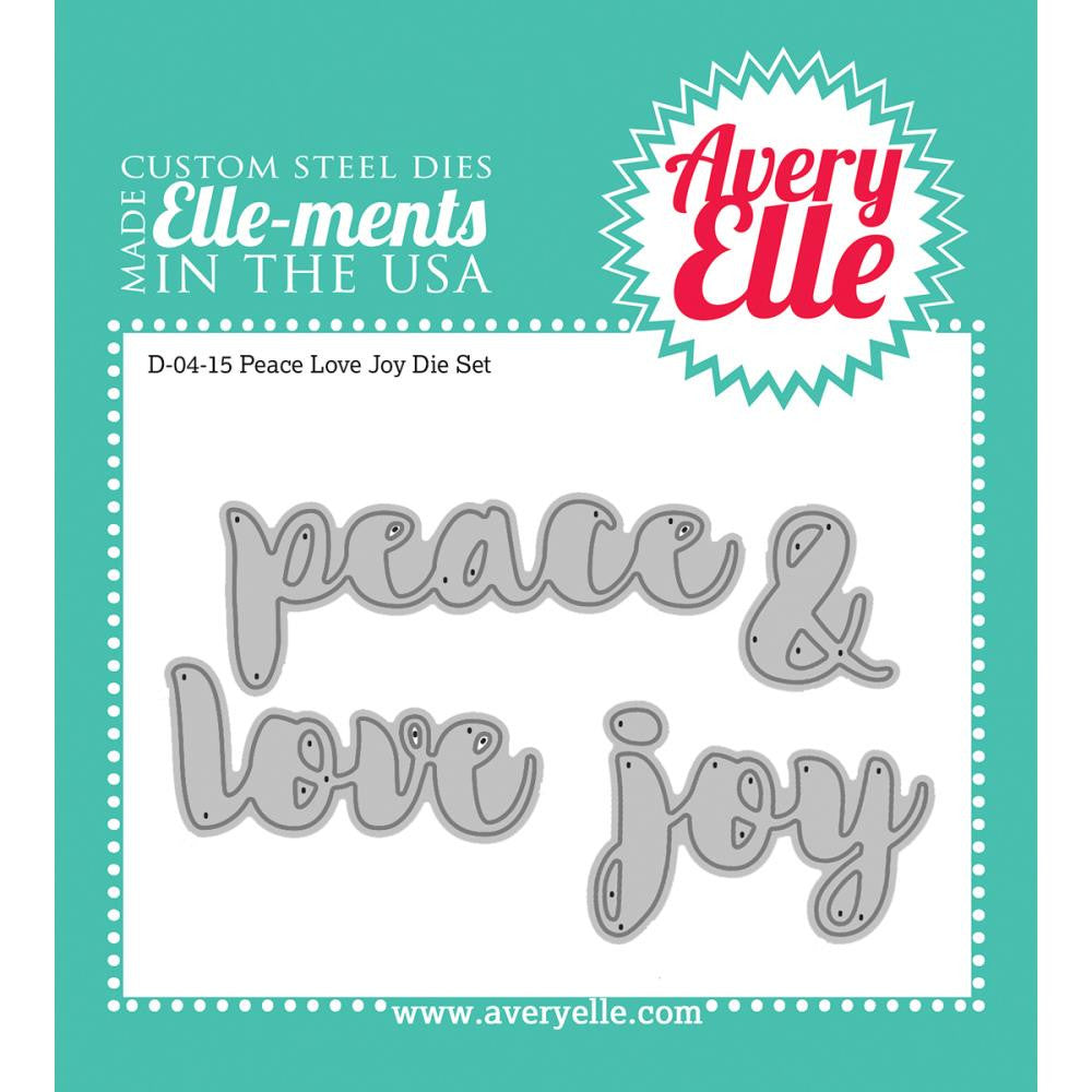 Avery Elle-Ments Dies Set - Peace Love Joy