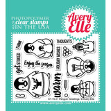 "Avery Elle Clear Stamp Set 4""X3"" - Penguin Greetings"