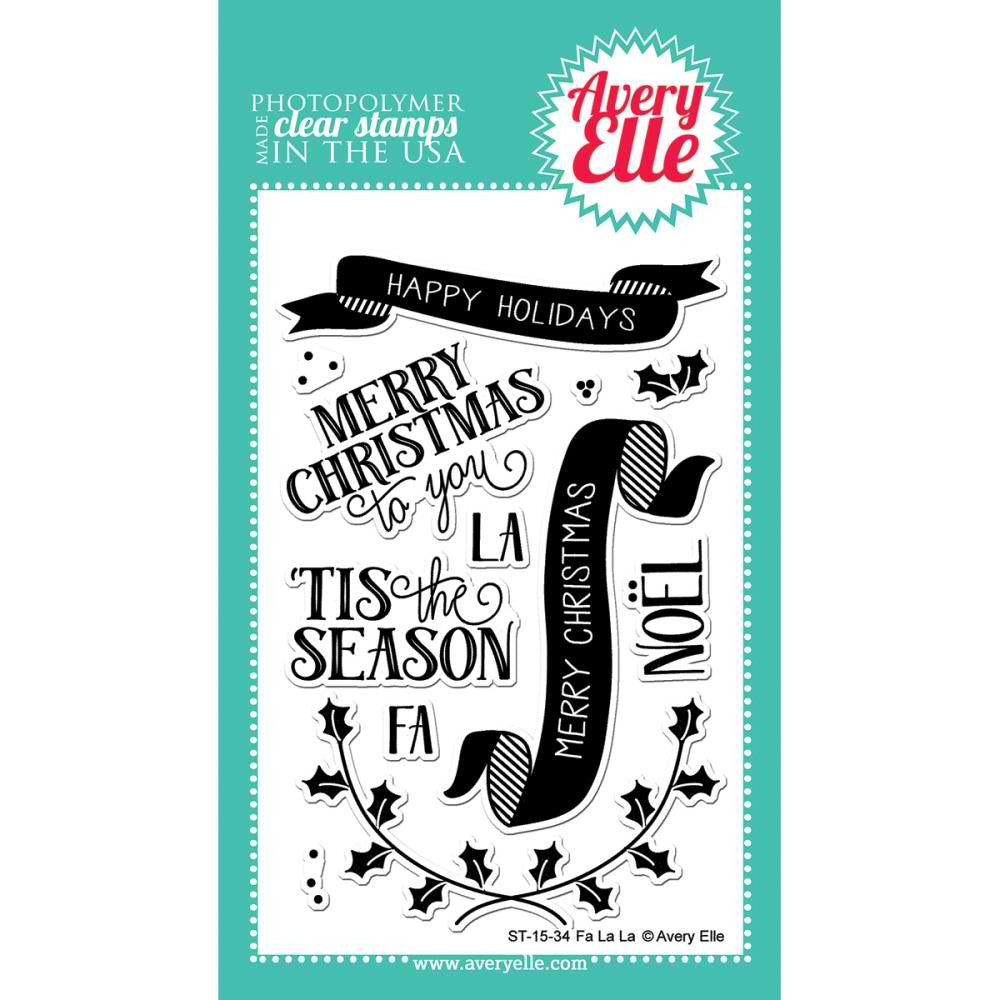 "Avery Elle Clear Stamp Set 4""X6"" - Fa La La"