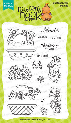 "Newton's Nook Designs - 4"" x 6"" Clear Stamps - Baskets of Wishes"