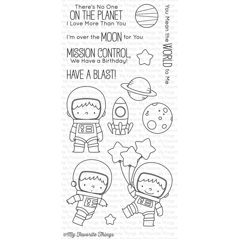 "My Favorite Things - 4""x8"" Clear Stamp Set - Space Explorer Stamp"