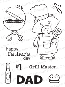 "Newton's Nook Designs - 3"" x 4"" Clear Stamps - Winston's BBQ"