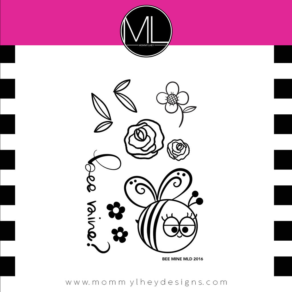 "Mommy Lhey, Stamps 2""x3"" - Bee Mine"