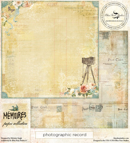 Blue Fern Studios - Memoires - Photographic Record