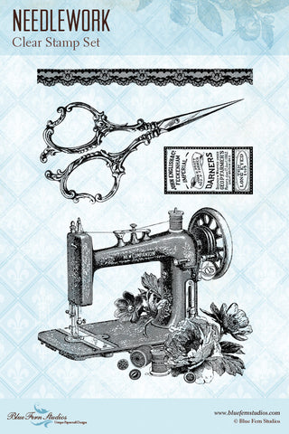 Blue Fern Studios - Stamps - Needlework
