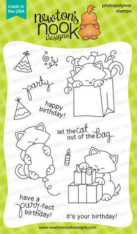 "Newton's Nook Designs - 4"" x 6"" Stamp Set - Newton's Birthday Bash (coordinates with Newton's Birthday Bash Die Set)"