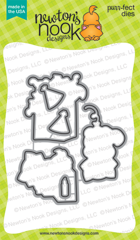 Newton's Nook Designs - Newton's Birthday Bash Die Set (coordinates with Newton's Birthday Bash Stamp Set)