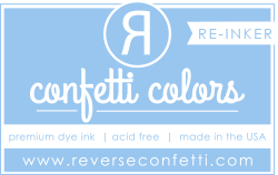 ***New Item*** Reverse Confetti - Dye Re-Inker - Baby Blue