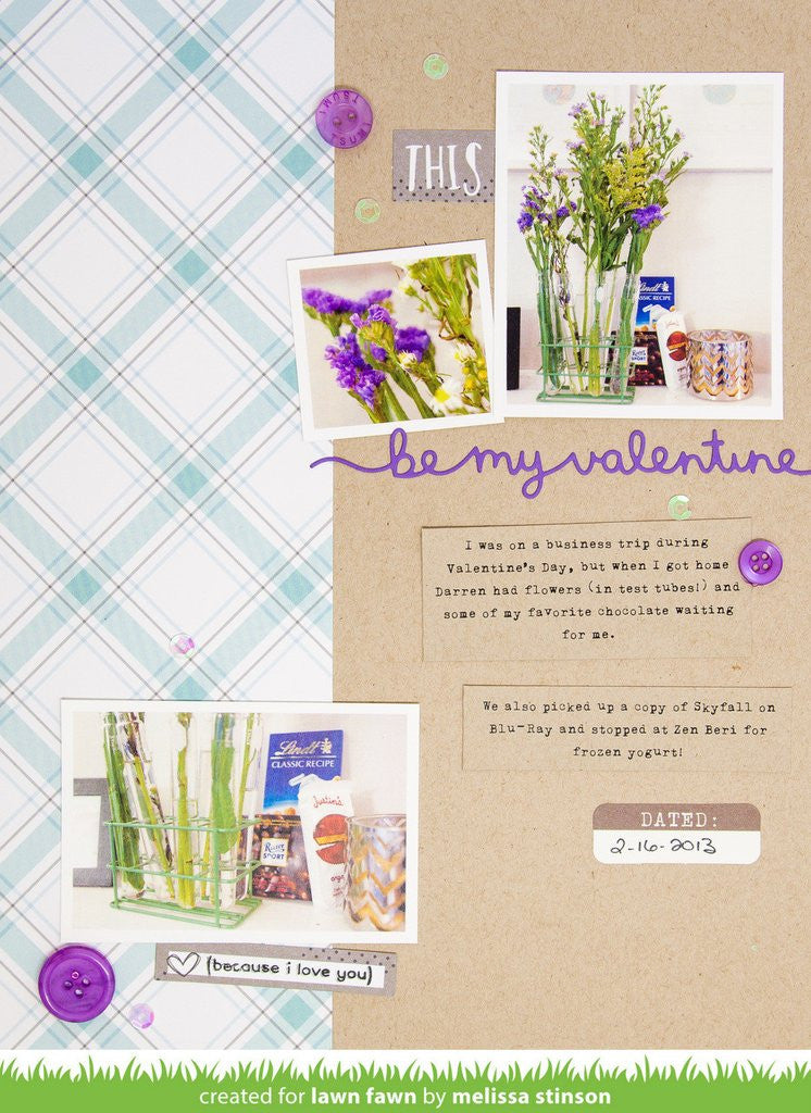 Lawn Fawn, Lawn Cuts - Be My Valentine Border