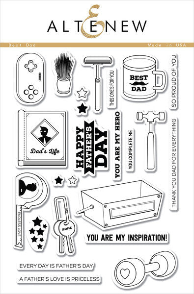 "Altenew - 6"" x 8"" Stamp Set - Best Dad"