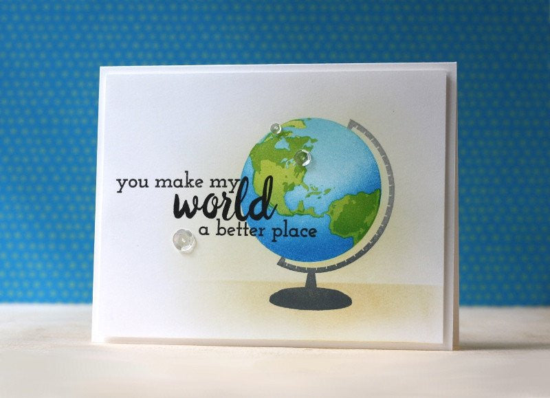 "Altenew - 6"" x 8"" Stamp Set - Big World (coordinates with Big World Die Set)"