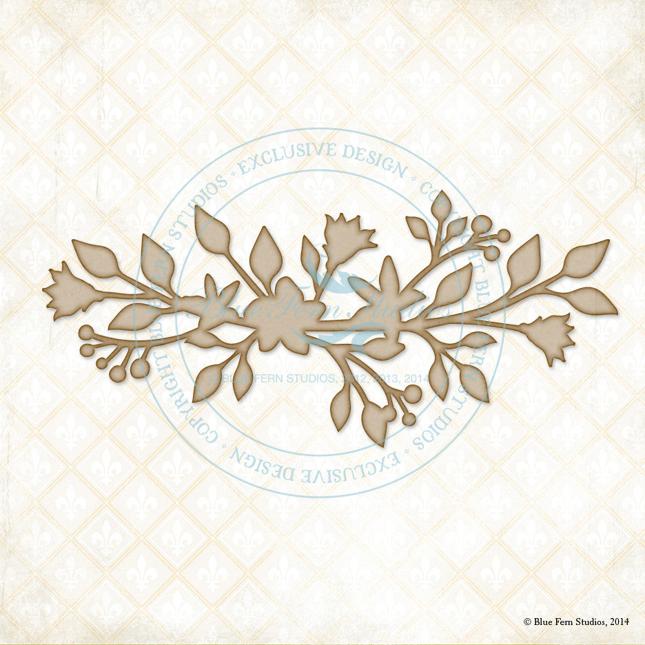 Blue Fern Studios - Chipboard - Blooming Foliage