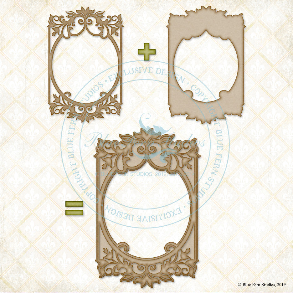 Blue Fern Studios - Bordeaux Layered Frame