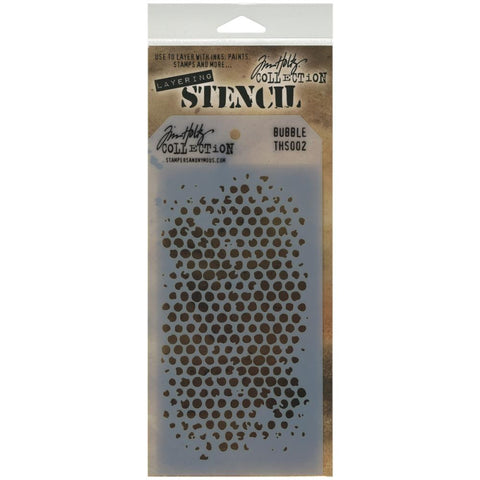 Stampers Anonymous - Tim Holtz - Layering Stencil -  Bubble