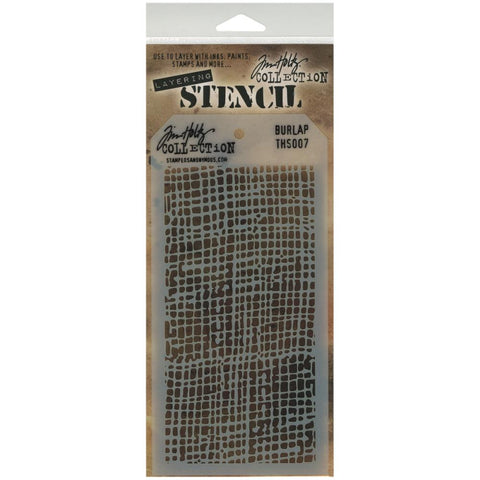 Stampers Anonymous - Tim Holtz - Layering Stencil - Burlap