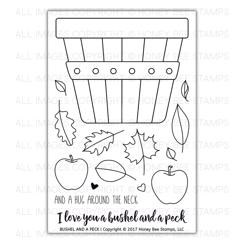 Honey Bee Stamps - Bushel And A Peck | 4x6 Stamp Set