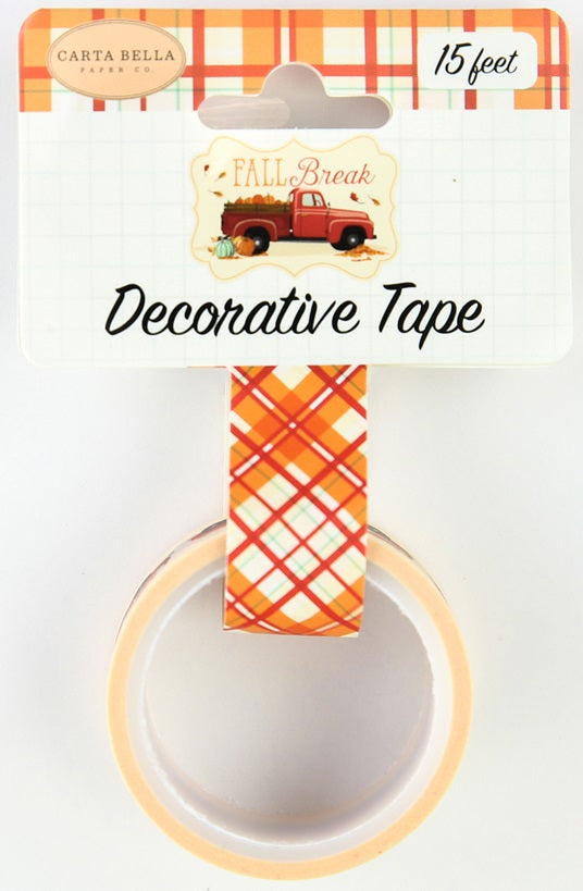 Carta Bella - Fall Break Decorative Tape - Fall Plaid