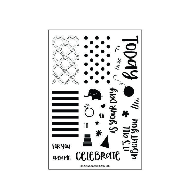 Concord & 9th - 4x6 Stamp Set - Celebrations
