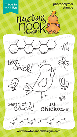 "Newton's Nook Designs - 3"" x 4"" Clear Stamps - Chicken Scratches"