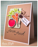 "***New Item*** Impression Obsession - ""Farm Fresh"" Dies (coordinates with ""Farm Fresh"" Clear Stamp set)"