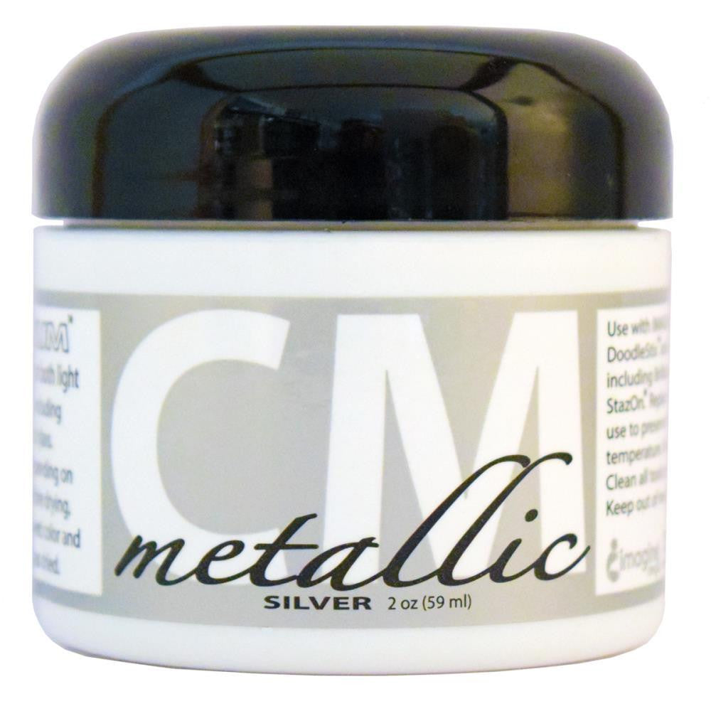 Imagine Crafts - Creative Medium Metallic Texture Paste 2oz - Silver