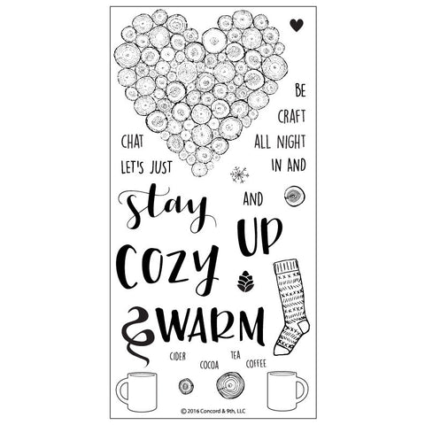 "Concord & 9th - 4"" x 8"" Stamp Set - Cozy Up (coordinates with Cozy Up Dies Set)"