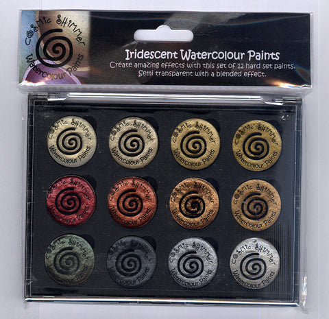 Cosmic Shimmer - Iridescent Watercolour Pallet Set - Metallics