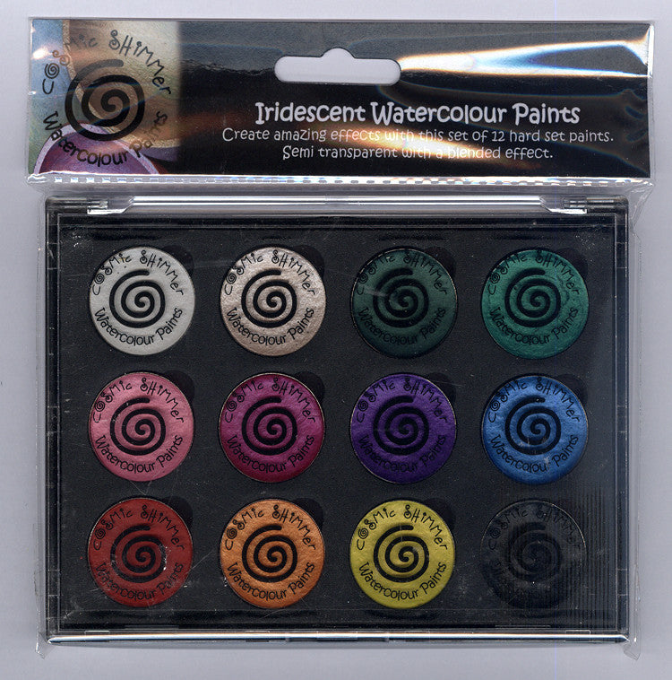 Cosmic Shimmer - Iridescent Watercolour Pallet Set - Carnival Brights